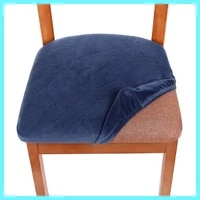 chair stool cover cushion cover silver fox pure color simple anti fouling dining chair cover
