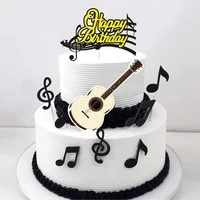 8pcsset note happy birthday cake topper child birthday cartoon cake toppers candy bar baby shower party decoration supplies