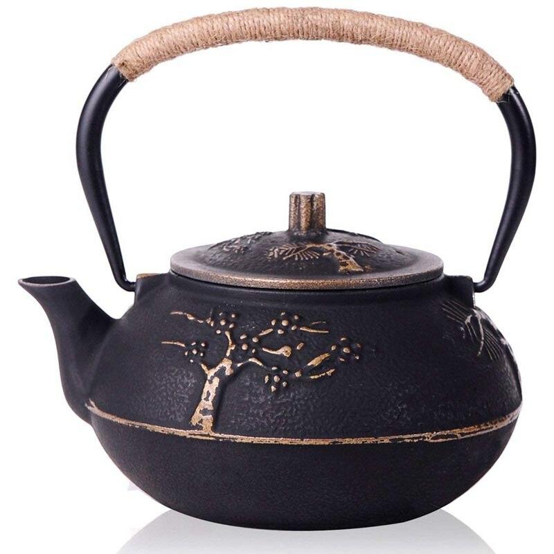 إبريق شاي ياباني من الحديد الزهر مع مصفاة/مصفاة من الفولاذ المقاوم للصدأ ، 30 أونصة (900 مللي)
