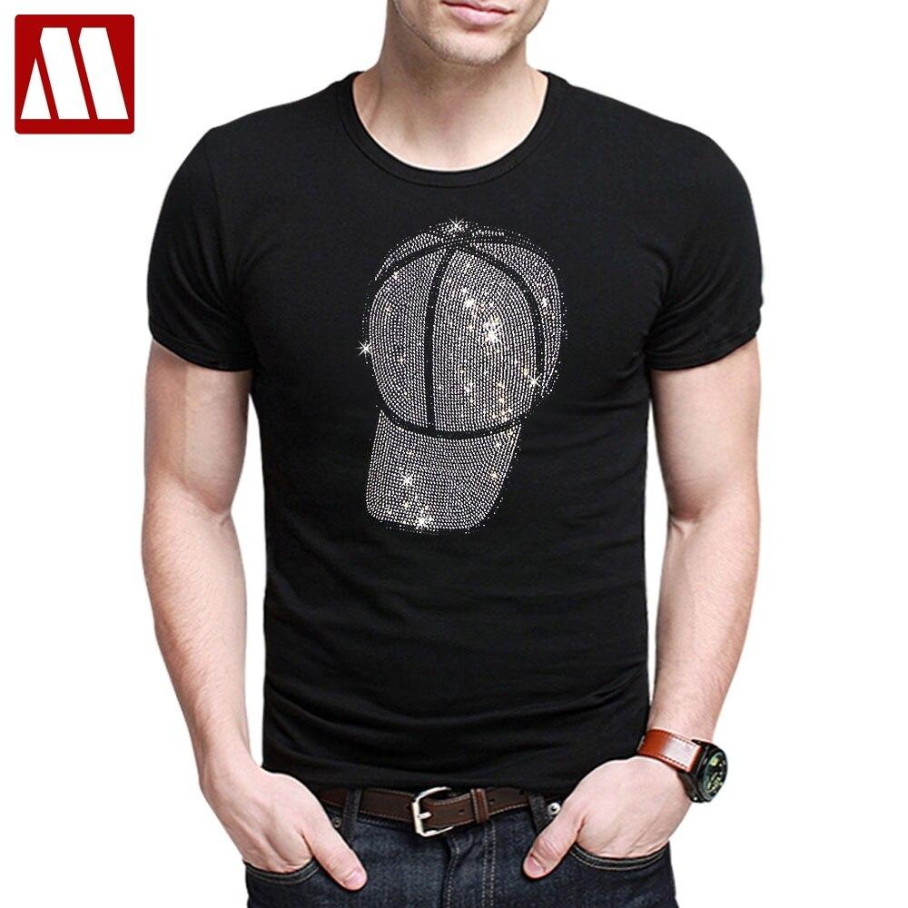 メンズデザイナー tシャツ男性半袖黒 tシャツ男コットントップティーズ夏ラインストーンマルチカラーシャイニングスカル tシャツ