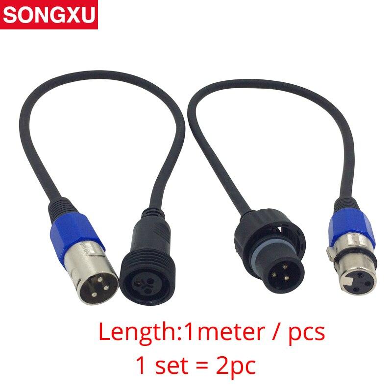 Songxu 2 Metro longitud 3-PIN Cable de conexión de señal DMX señal XLR conexión DMX512 etapa luz Alambres masculina /sx-ac009