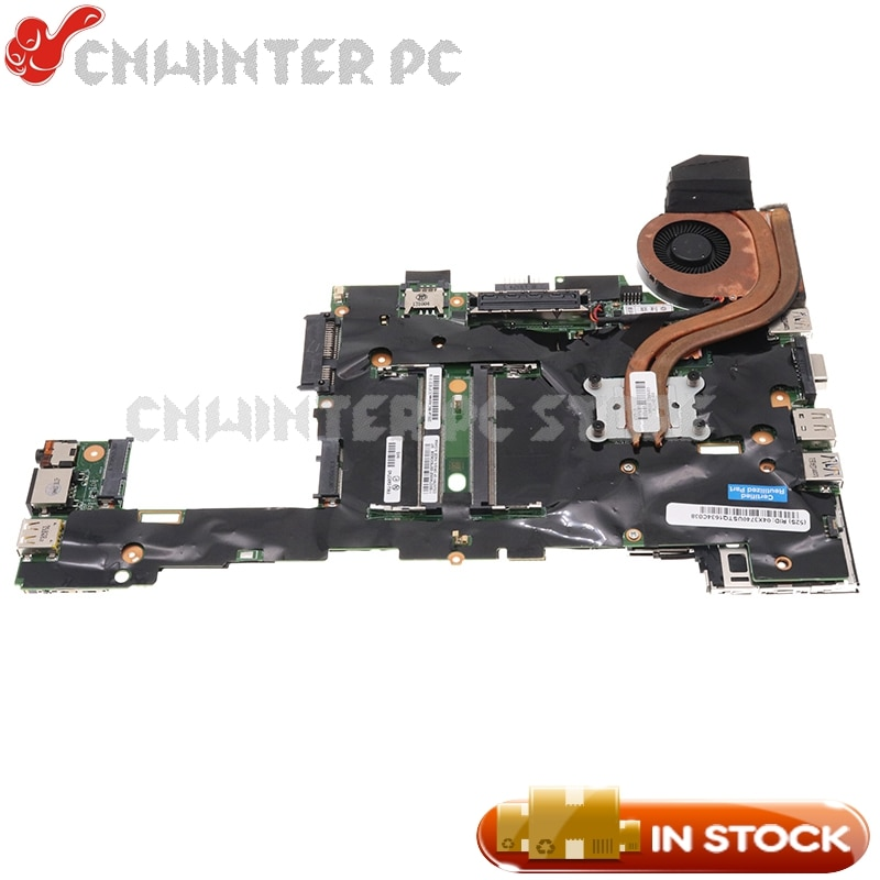 NOKOTION لينوفو ثينك باد X230T اللوحي اللوحة الأم FRU 04W6802 04Y2036 04W6716 04X3740 i5-3320M وحدة المعالجة المركزية مع heatisnk