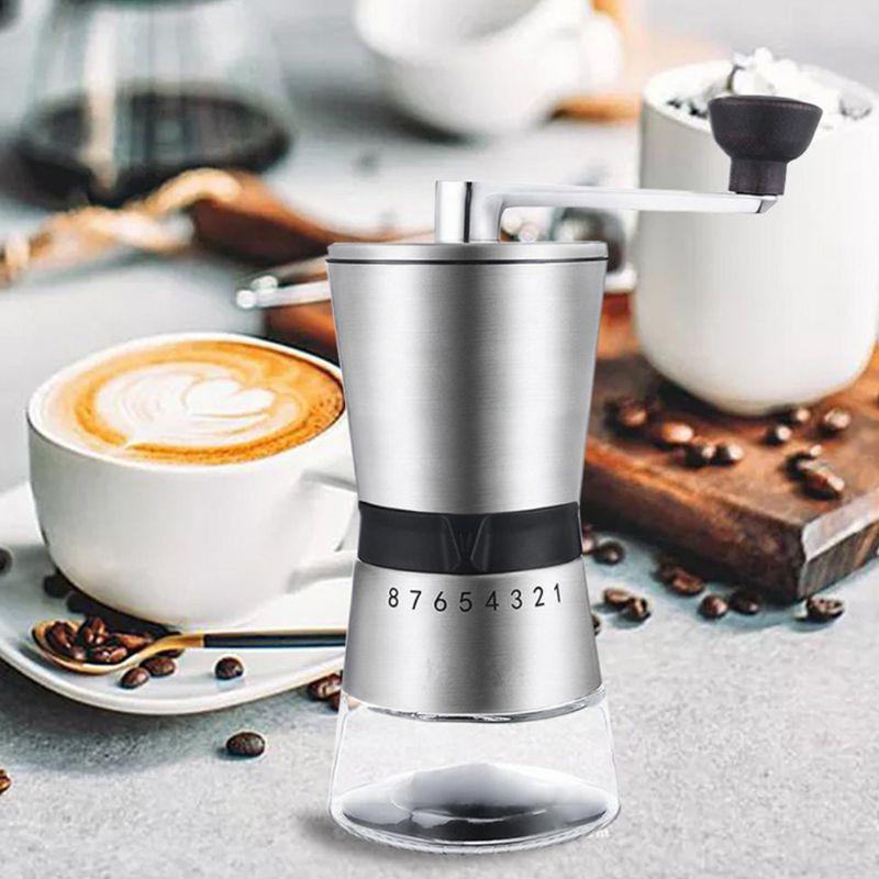 دليل القهوة طحن دائم الفولاذ المقاوم للصدأ كرنك اليد طحن السيراميك المخروطية