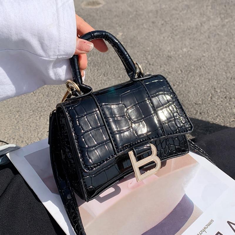 с доставкой Stone Pattern PU Leather Crossbody Bags Women 2021 Branded Trending Shoulder Bag Lady Luxury mini Handbags Purses