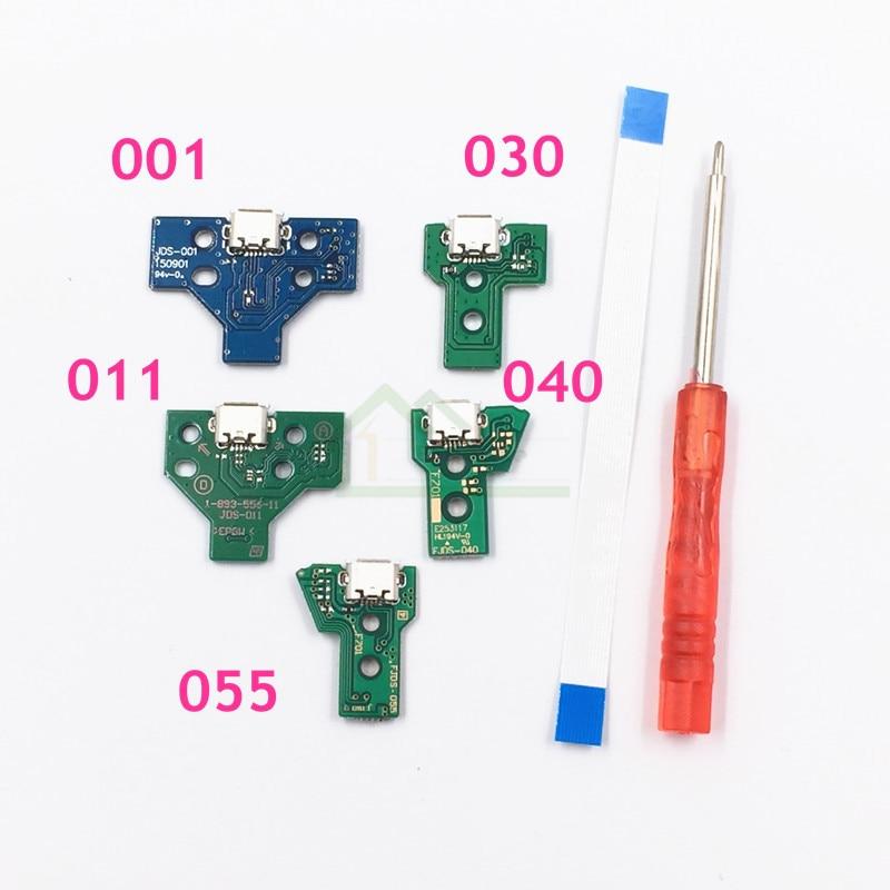 Для Sony Playstation 4 PS4 Pro контроллер зарядная Плата USB розетка JDS-001 JDS-011 JDS-030 JDS-040 с лентой