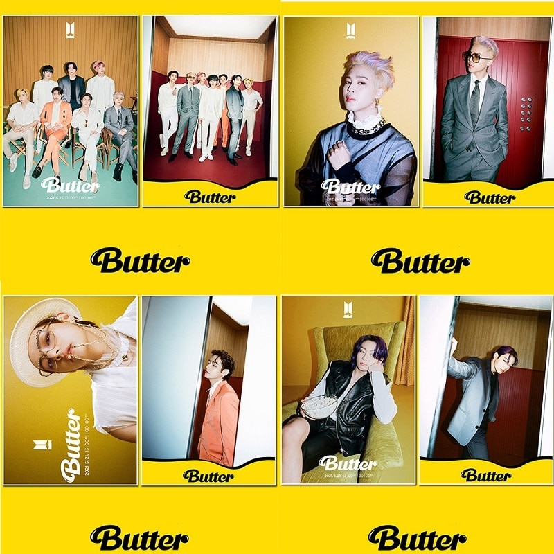 KPOP Bangtan Boys Digital Single BUTTER Peripheral Poster Pictorial Photo Hanging Picture Kim Tae Hyung wholesale link for astro game tae kim
