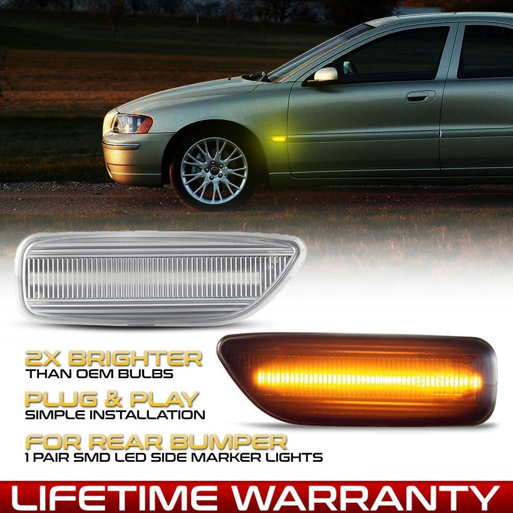 2 قطعة LED seqeundial الوامض الجانب ماركر بدوره أضواء الإشارة لفولفو S60 S80 V70 XC70 XC90 MK1 مؤشر السيارة مصابيح ديناميكية