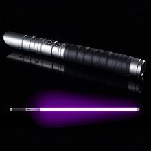 إضاءة مبارزة ثقيلة RGB Jedi Sith ضوء صابر قوة FX الإضاءة تغيير لون الصوت FOC قفل مقبض معدني