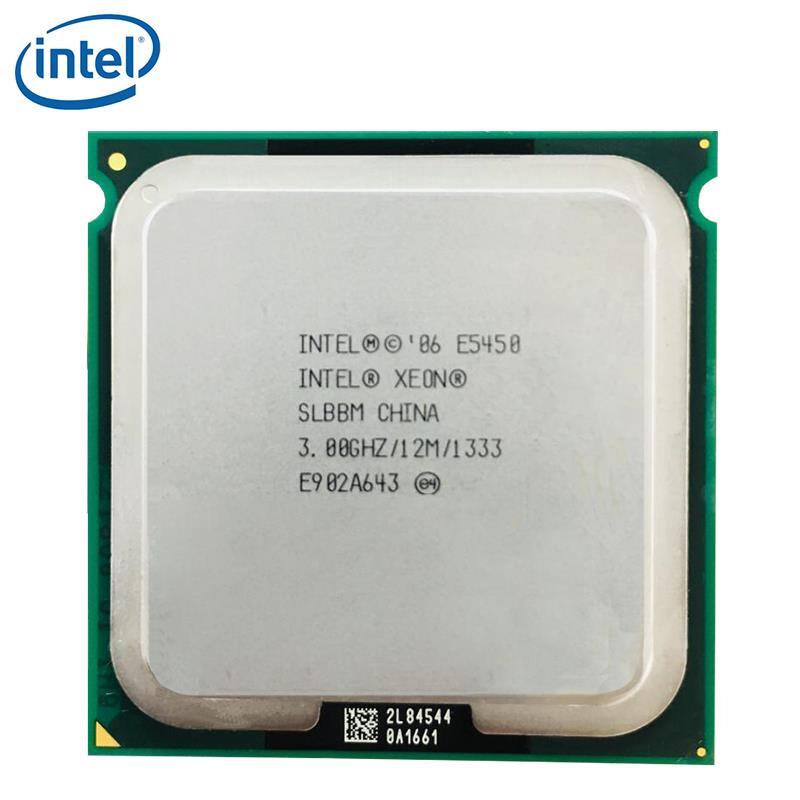 معالج Intel Xeon E5450 رباعي النواة 3.0 جيجاهرتز 80 وات 12 ميجابايت SLANQ SLBBM يعمل على اللوحة الرئيسية LGA 771 تم اختباره 100% يعمل