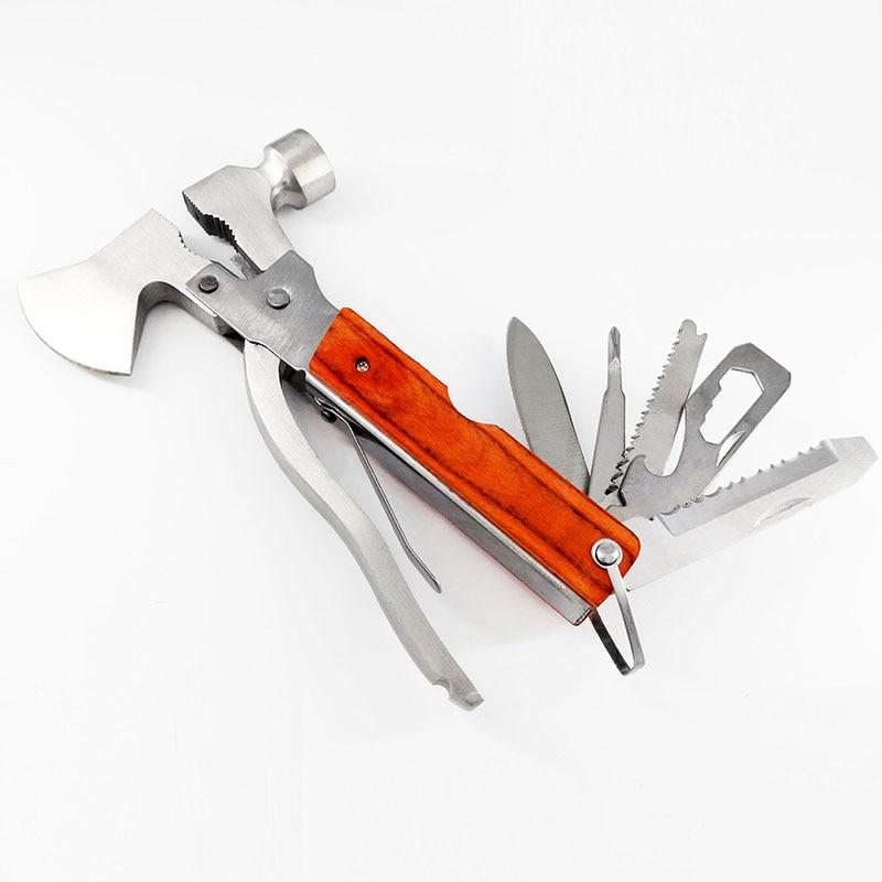 في الهواء الطلق متعددة أداة المطرقة الصلب الفأس سكين المنشار أدوات الطوارئ إنقاذ الحياة مطرقة متعددة الأغراض إصلاح عملي قوي دائم
