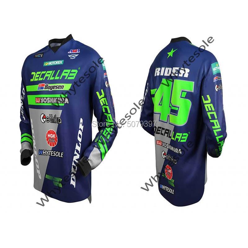 Nombre personalizado enduro camiseta de motocross mtb Jersey para descensos MX ciclismo...