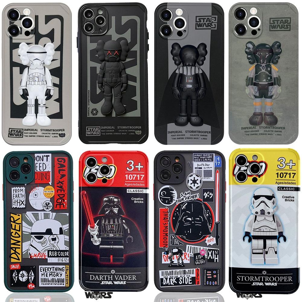 Custodia protettiva per iPhone Star Wars Disney Silicone sesamo Street Darth Vader Imperial Stormtrooper custodie protettive per iPhone 11 12 Pro Max