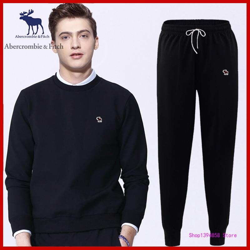 Abercrombie-Sudadera con capucha y pantalones de chándal para hombre, Jersey deportivo de...