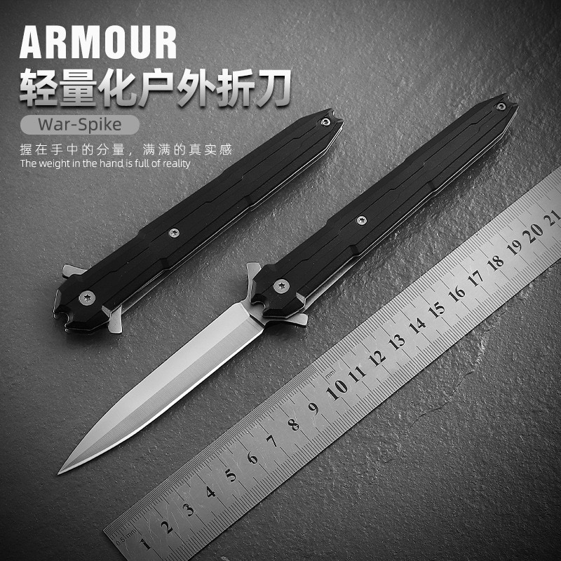 folding knife 7cr17mov g10 abs handle blade tactical camping survival combat pocket knives edc hunting multi tools knife sheath Folding Blade Knife Mini Military Combat Outdoor Camping Hunting Survival Tactical Utility Pocket EDC Multi Knives