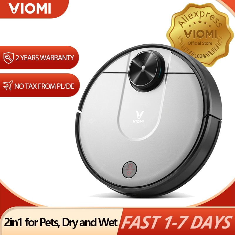 【EU STOCK】VIOMI V2 PRO Robot Vacuum Cleaner 550ml Electric Water Tank 2100Pa 2in1 for Pets, Dry Wet Hair Cleaning Mopping Master