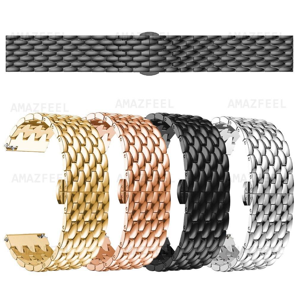 Para Huawei watch gt 2E correa de Metal reloj inteligente correa para reloj GT Acero inoxidable correa de muñeca Honor magicWatch pulsera