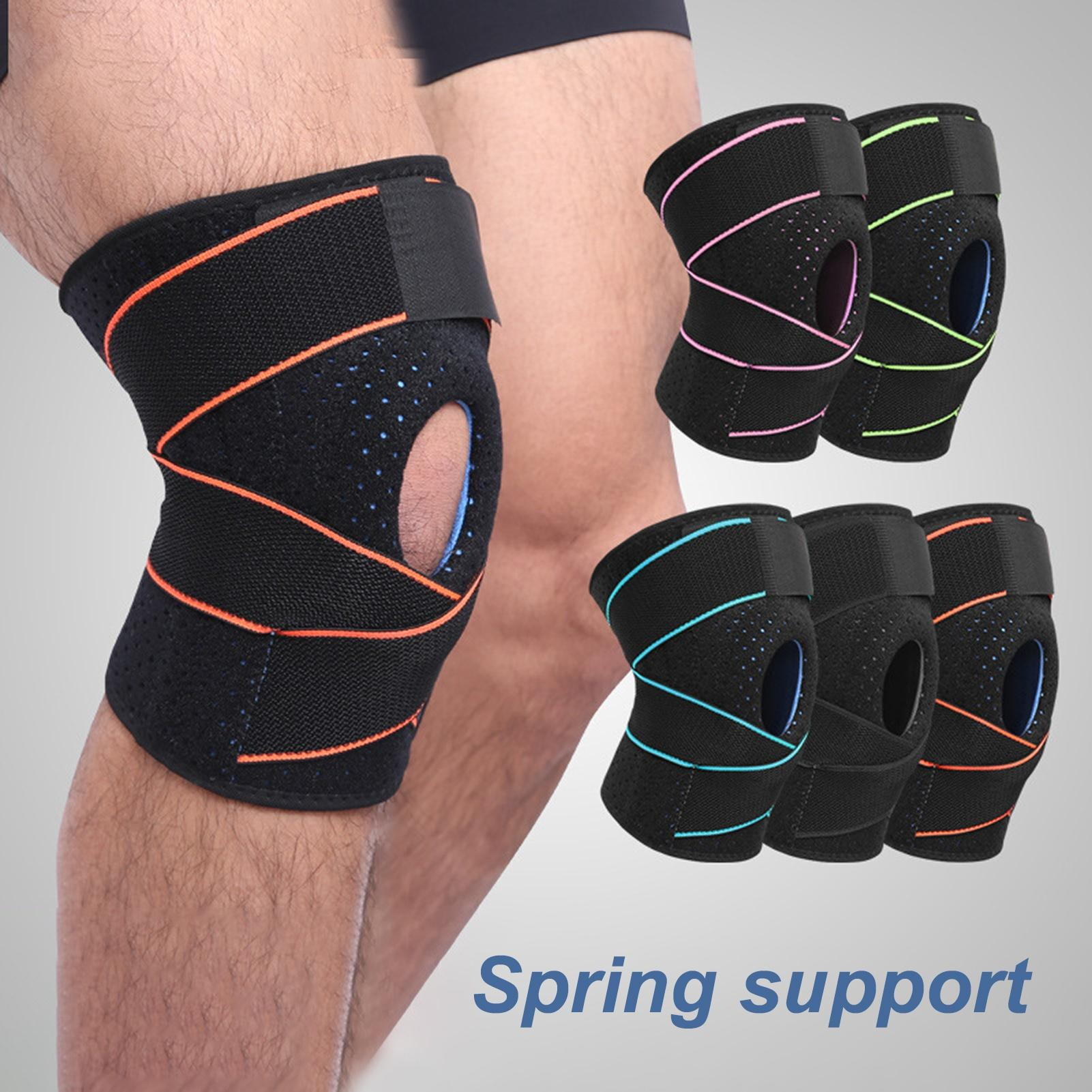 1PCS Fitness Knee Support Sports Safety Brace Black Pad Protector Band for Football
