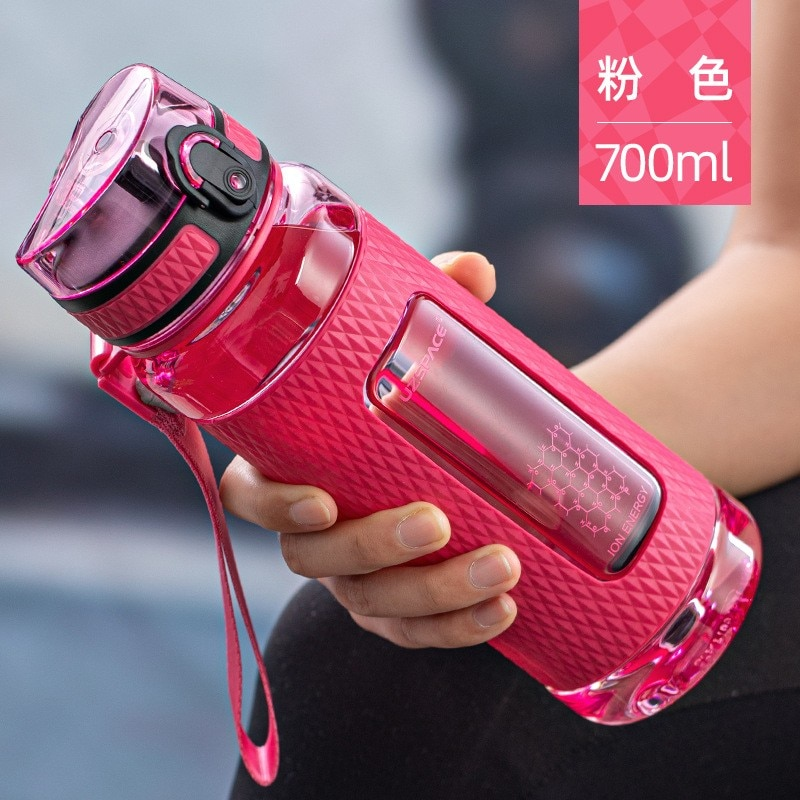 Water Bottles Gym Leak-proof Drop-proof Portable Shaker Outdoor Travel Kettle Plastic Drink Water Bo