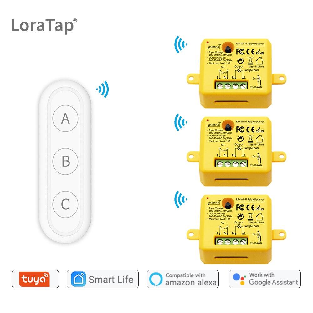 Tuya Smart Life WiFi Switch Socket Relay module New with remote control google Home Alexa Echo DIY smart home Automation