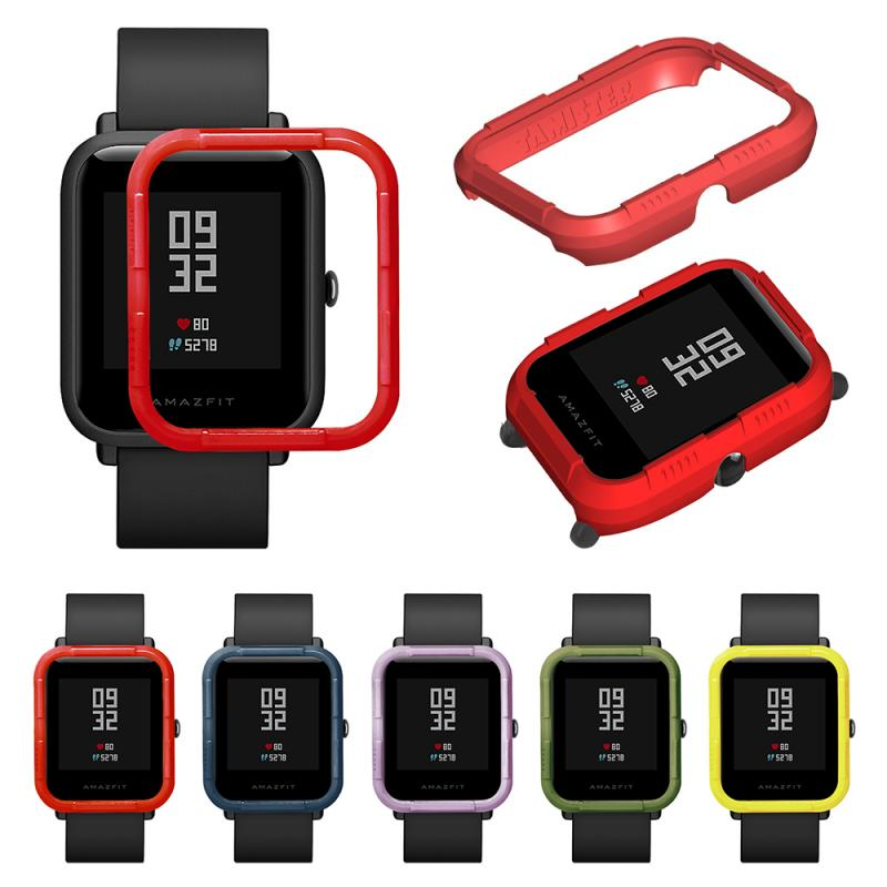 Protective Case For Xiaomi Huami Amazfit Bip Watch Hard PC Cover Shell Frame Bumper Protector for Amazfit Bip Lite Accessories protection case for huami amazfit bip s replacement pc watch case cover shell frame protector for xiaomi huami amazfit bip lite