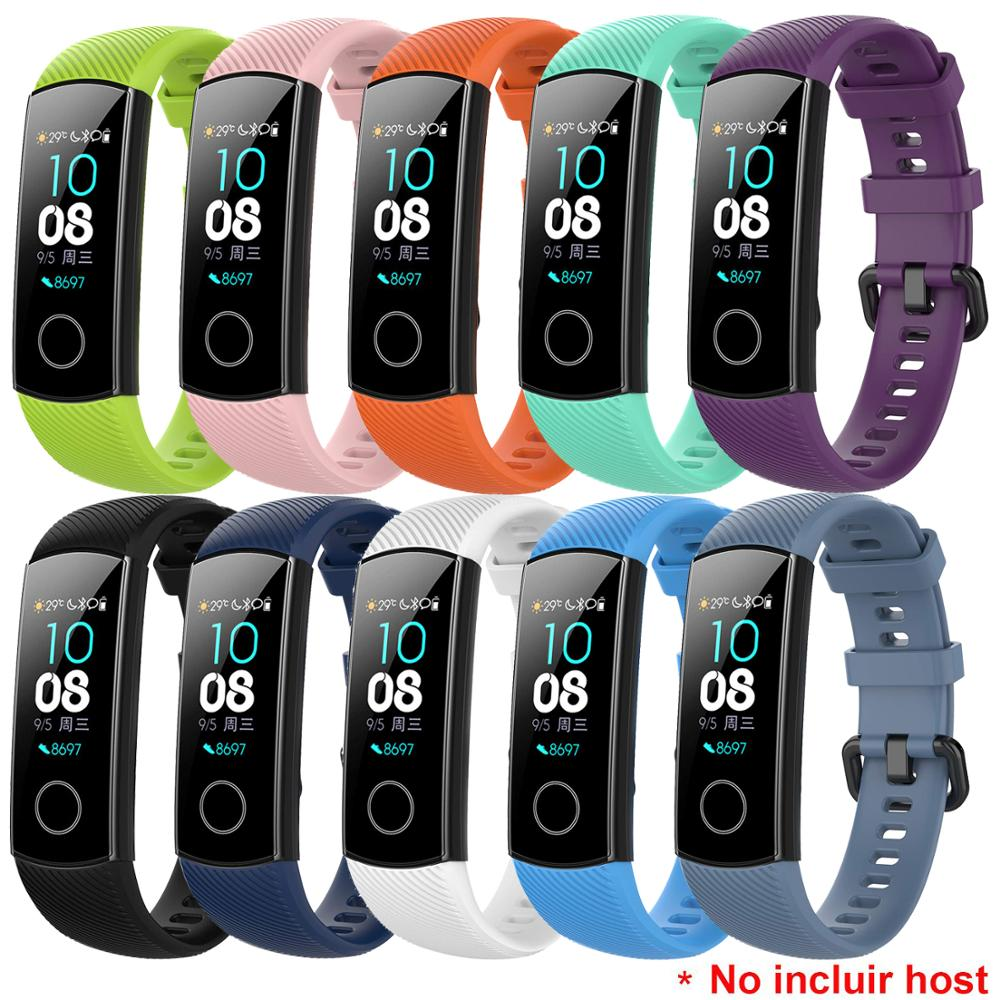 Soft Silicone Watch Strap Replacement Wrist Watch Band For Huawei Honor Band 4 / Honor Band 5 Watchband Wristband Bands new replacement sport silicone for huawei band 6 watch band wrist strap adjustable watchband for huawei honor band 6 smart watch