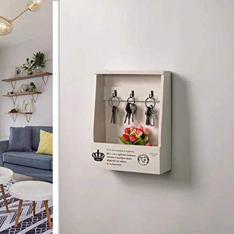 خشبي مفتاح حامل البريد الحائط صندوق تخزين البريد فارز المنظم صندوق ديكور المنزل غرفة معيشة الديكور هدية للأصدقاء