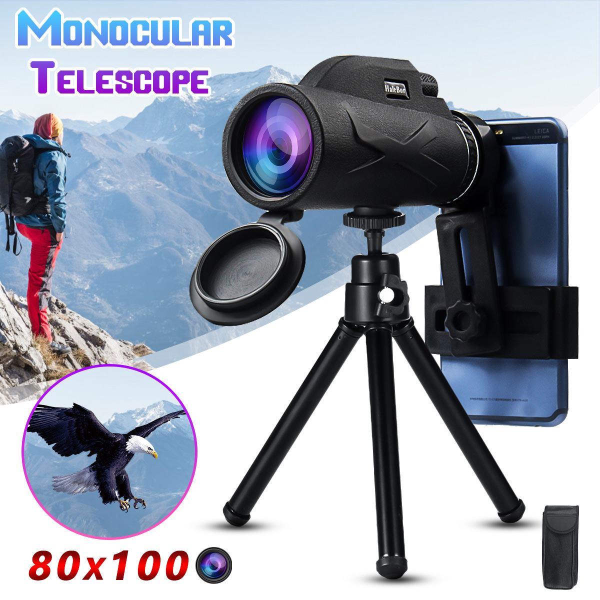 Telescopio profesional Monocular 80x10 0/50x60, telescopio potente para móvil, ocular militar, objetivo de mano, óptica de caza