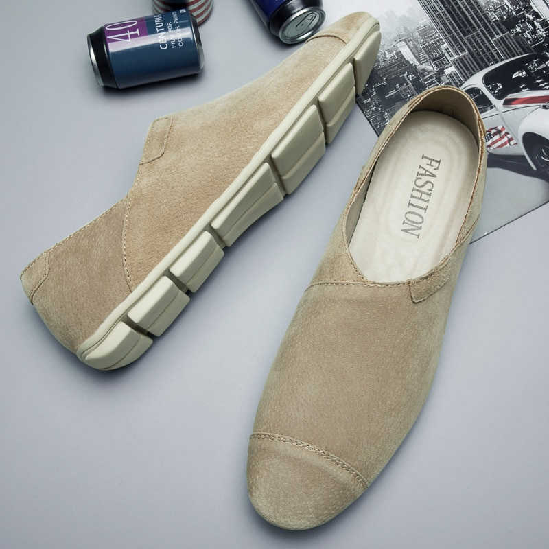 bole fall new 36 47 big size handmade causal leather men shoes fashion design slip on comfort men driving loafers shoes men flat Summer Brand New Men Leather Casual Shoes Slip-on Men Lightweight Driving Shoes Flats Soft Loafers Men Moccasins Shoes *