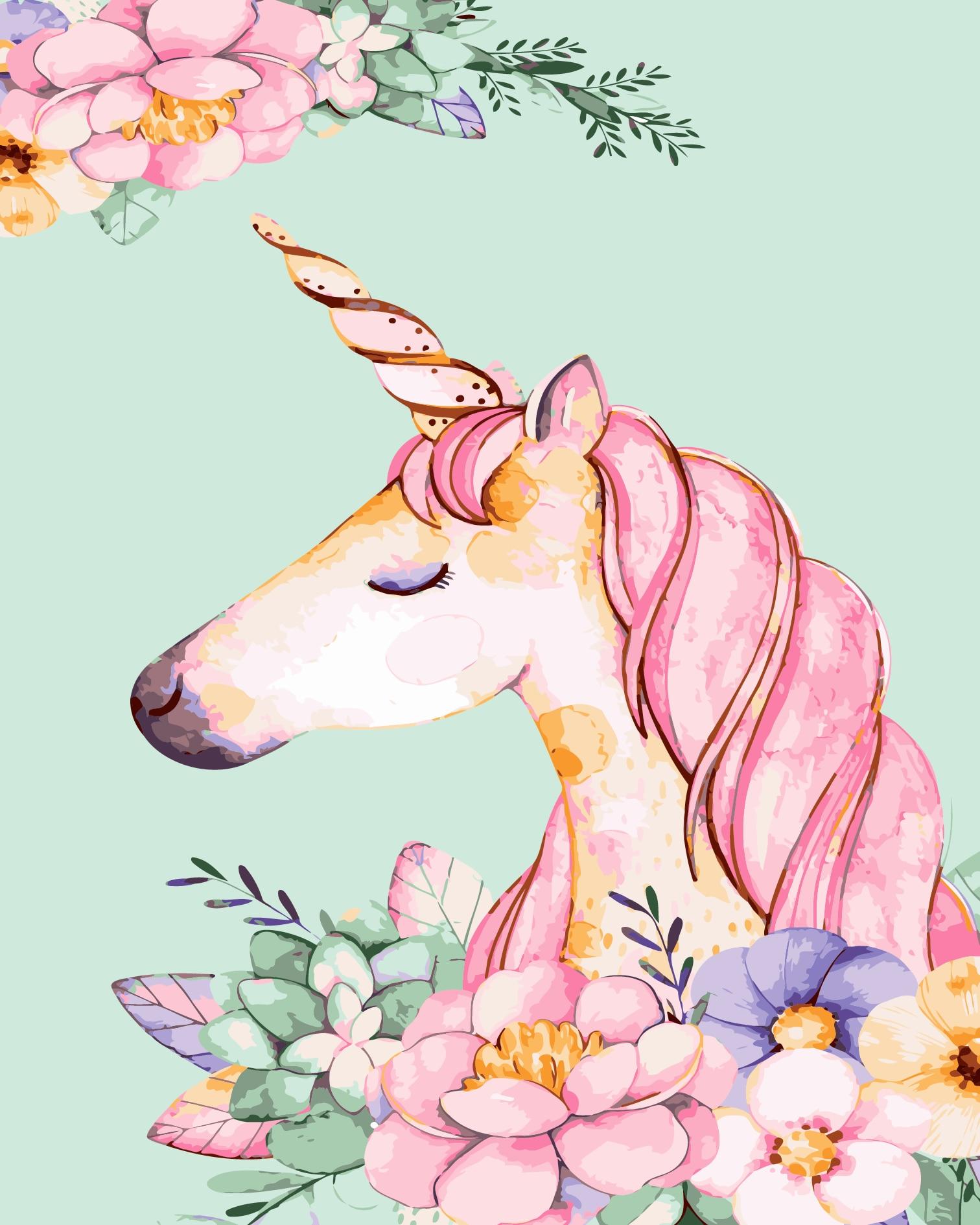 Pintura al óleo por números 50x40cm unicornio equipo de animales dibujo sobre lienzo arte pintado a mano DIY regalo decoración del hogar