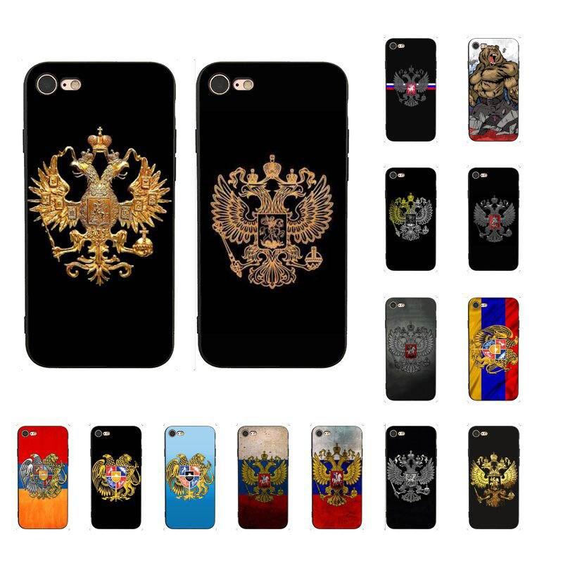 Armênia Albânia bandeira Rússia Emblema TPU Macio Caso de Telefone Silicone para iPhone 8 7 6 6S Plus X XS MAX 5 5S SE XR 10 Capa