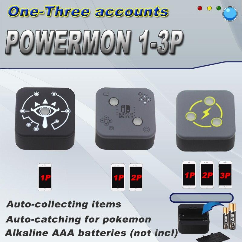 1 p 2 p 3 p powermon jogo de captura automática acessório para pokemon go plus para pokemon go plus para iphone 6/para ios/android 7.0