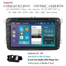Quad Core Android 10 8 Inch Auto Dvd Speler Gps Navigatie Multimedia Player Voor Vw Passat Polo Golf Seat Skoda bora Candy Octav