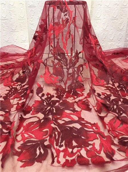 Удивительный цветок дизайн французский чистая кружевная ткань вышитая кружевная тюль текстиль для элегантного платья PDN498 (5 ярдов/партия) м...