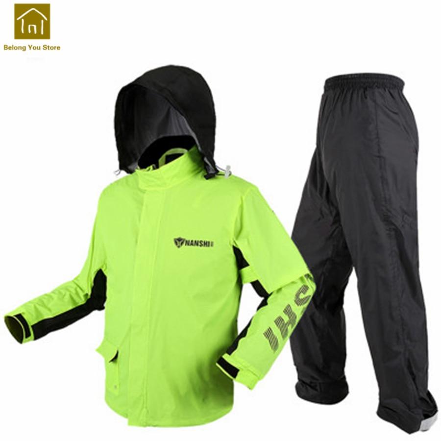 Impermeable impermeable para hombre moto rcycle chaqueta de lluvia de bicicleta ciclismo mujer lluvia Abrigo con capucha capa de chuva moto LZG245