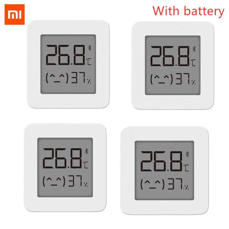 (4шт) [Новейшая версия] Bluetooth термометр XIAOMI Mijia 2, беспроводной умный электрический цифровой гигрометр термометр, работает с приложением …