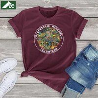 cute psychedelic t shirt women clothing 100 cotton girls top funny cartoon anime graphic shirts fashion unisex short sleeve tee