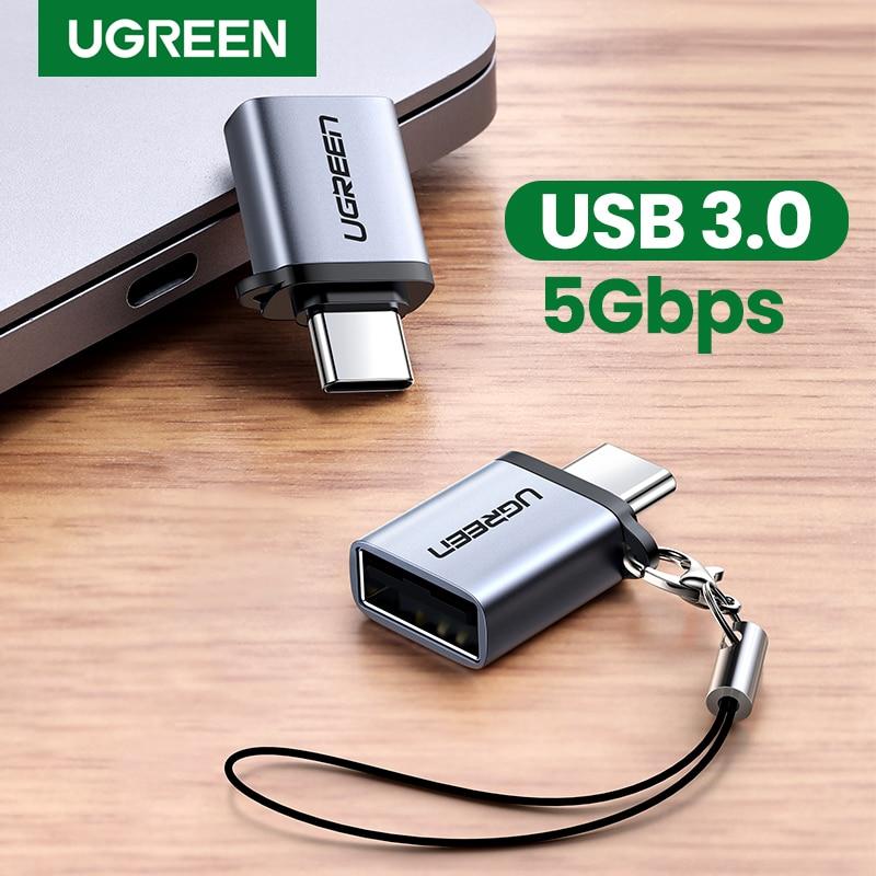 UGREEN-Cable OTG adaptador USB C a USB 3.0 para varios dispositivos, convertidor...