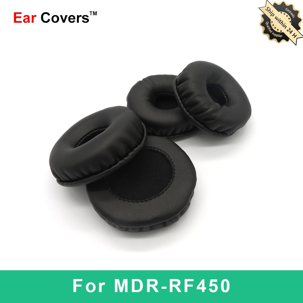 Ear Pads For Sony MDR RF450 MDR-RF450 Headphone Earpads Replacement Headset Ear Pad PU Leather Spong