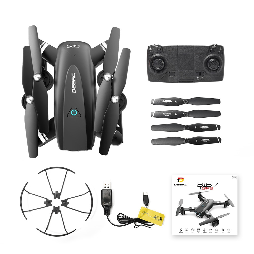 Holy Stone S167 GPS Drone with Camera FPV 1080p HD Profissional Wifi RC Drones Selfie Follow Me Quadcopter toys enlarge