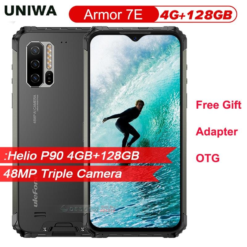 IP68 прочный мобильный телефон Ulefone Armor 7E 6,3 дюймHelio P90 Восьмиядерный 4 Гб 128 Гб Смартфон Android 10,0 мобильный телефон 5500 мАч Global