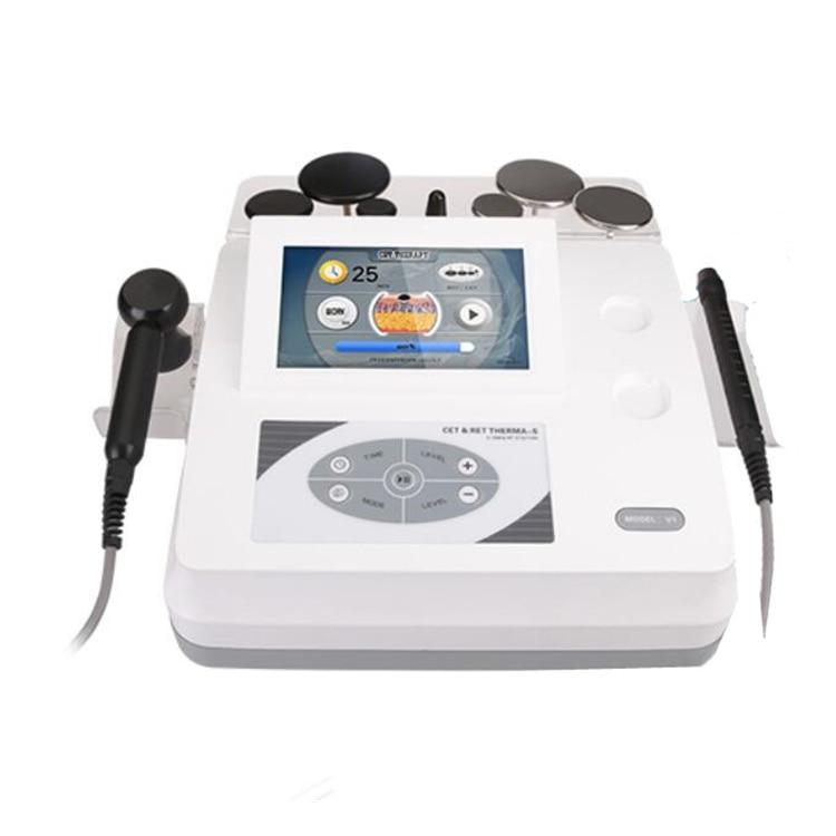 Portable beauty equipment cet ret monopolar rf radio frequency facial