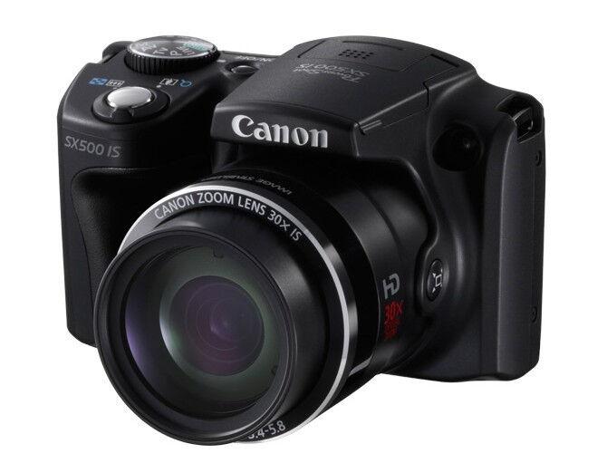 -Cámara Digital Canon PowerShot SX500 IS, 16,0 MP, usada, óptica, gran angular,...