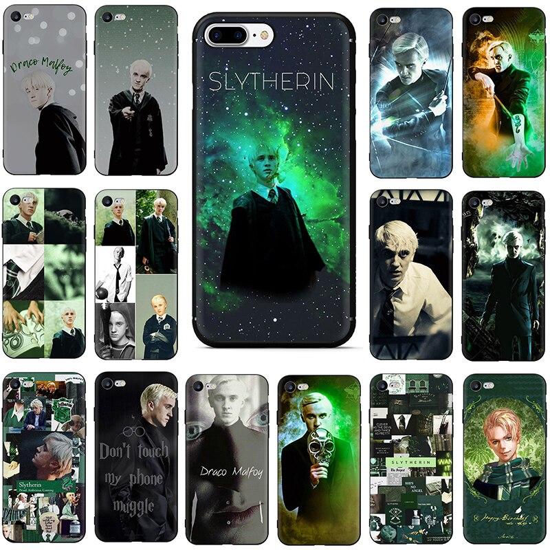 Draco Malfoy miękka TPU silikonowa obudowa telefonu dla iphone 6 6s 7 8 plus X XR XS Max