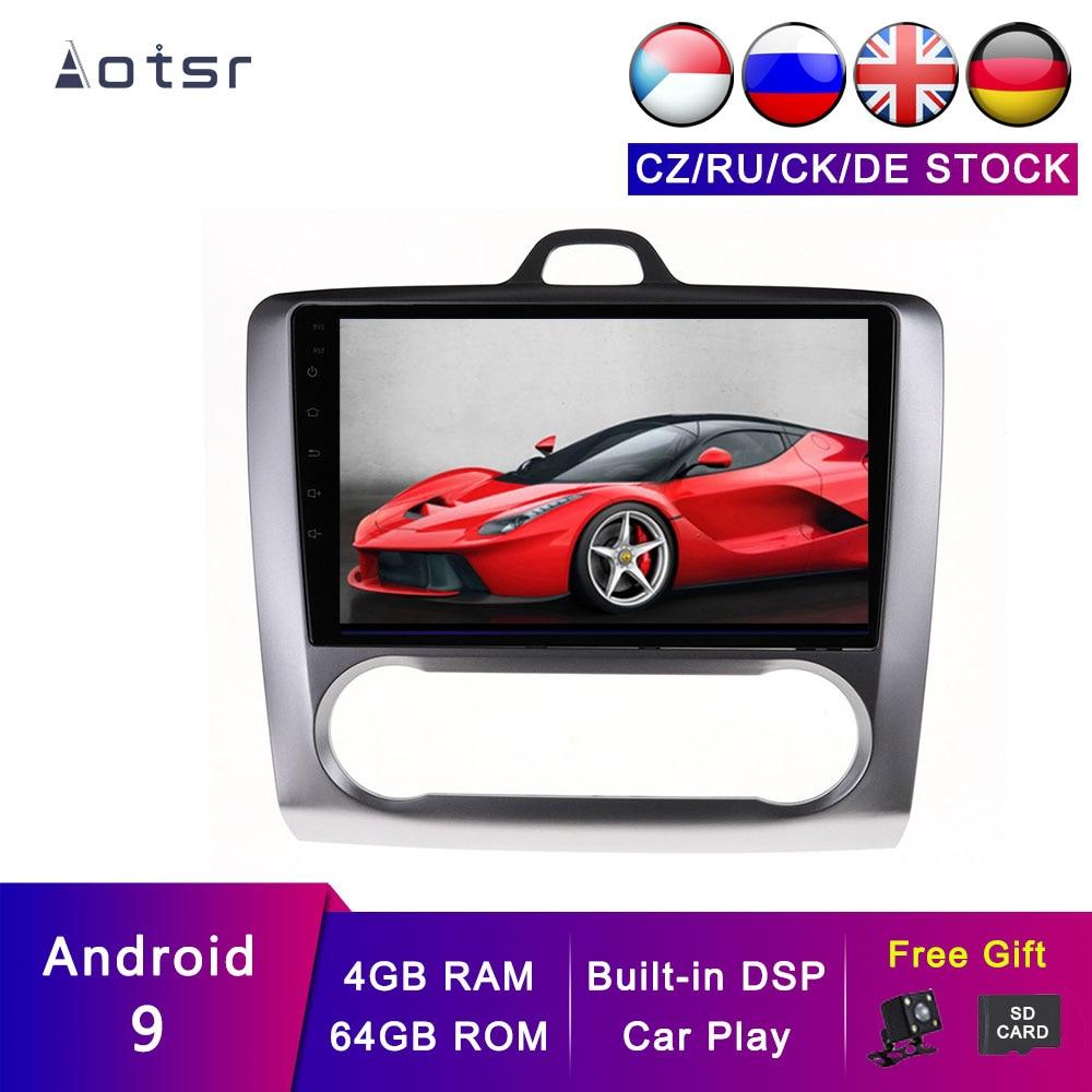 AOTSR Android 9 GPS de coche para Ford Focus 2004-2011 navegación de coche pantalla IPS reproductor Multimedia DSP unidad principal estéreo 4G + 64G