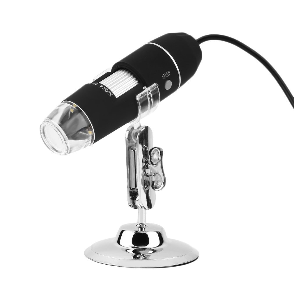 Mega pixeles 1000X 8 LED Microscopio Digital cámara endoscopio USB microscopía lupa...