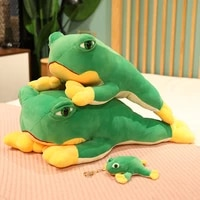 12 60cm funny frog plush toy cartoon stuffed animal frog pillow bag decoration small pendant childrens toy gift christmas gift