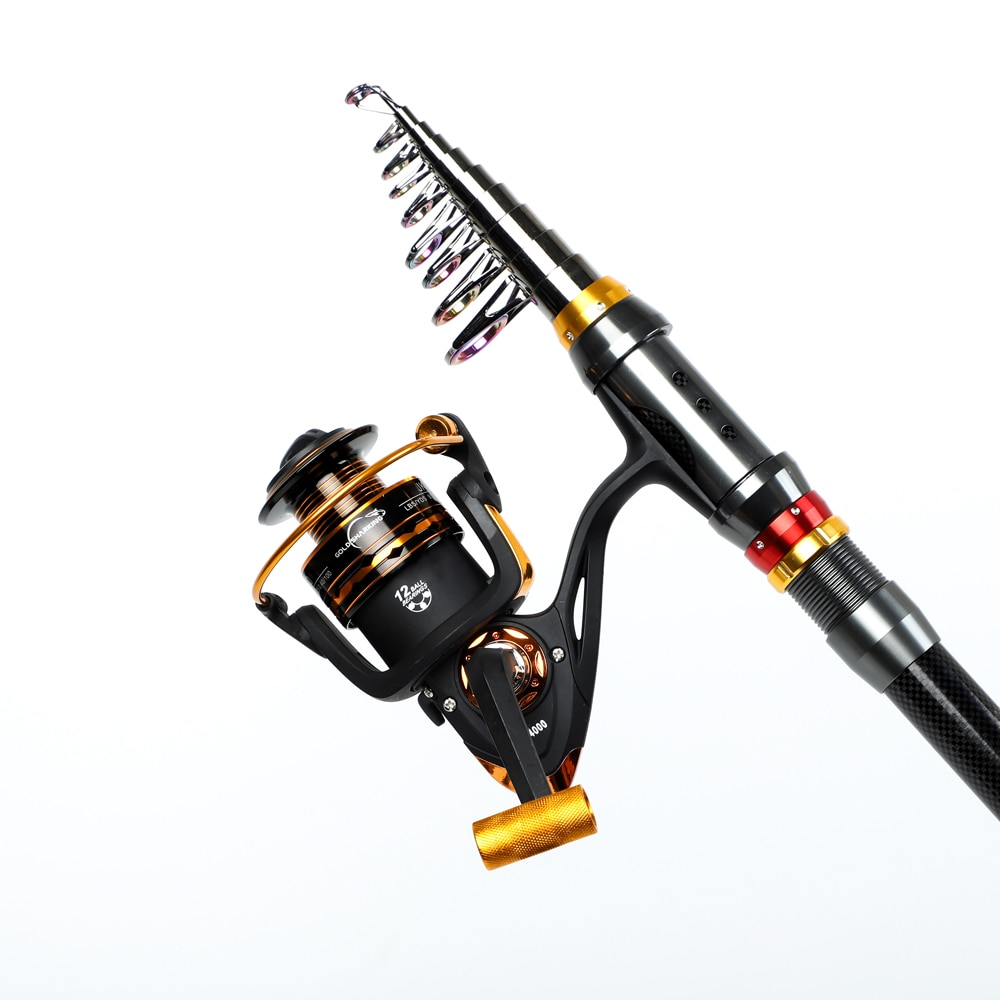 2021 Spinning Fishing Rod Travel Sea Pole 1.8m 2.1m 2.4m 2.7m 3.0m 3.3m 3.6m Carbon Telescopic Fishing Rod and reel combo set