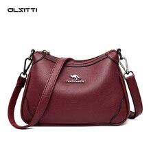 OLSITTI Vintage Soft Leather Luxury Handbags for Women2021 Bags Designer Female Small Messenger Shou