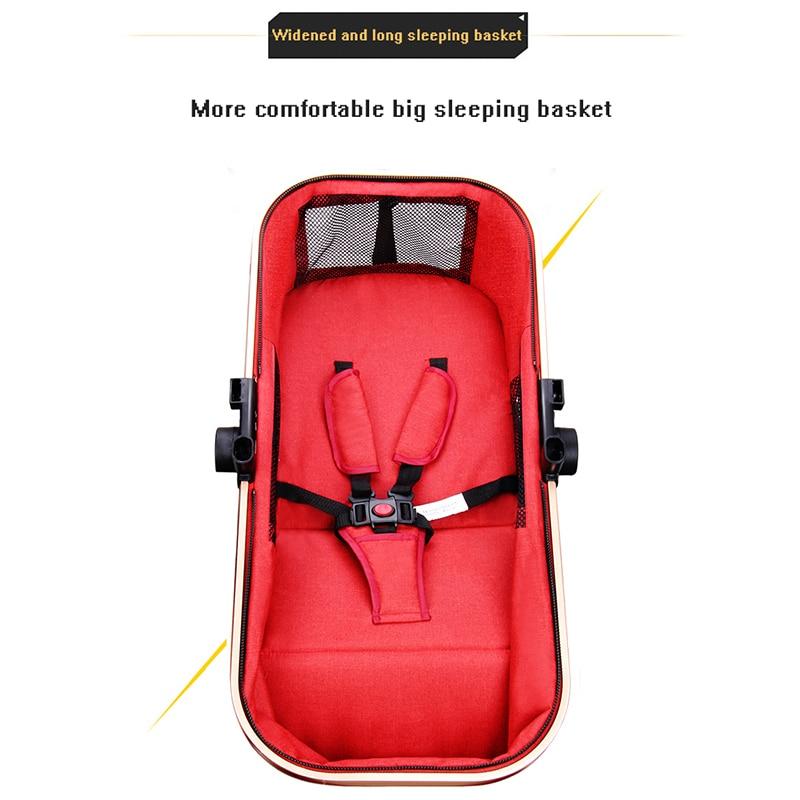 Luxury baby stroller 3 in 1 portable travel stroller can sit foldable stroller high landscape aluminum frame newborn stroller enlarge