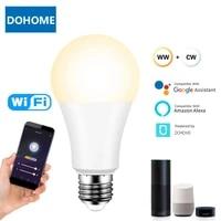 Ampoule intelligente WiFi  lampe LED  lumiere de nuit  controlable par application Alexa Google Assistant  controlable pour maison intelligente  B22 E27  9W